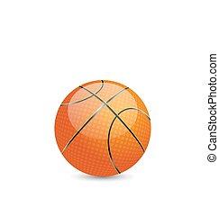 白, バスケットボール, 背景, 隔離された, ボール