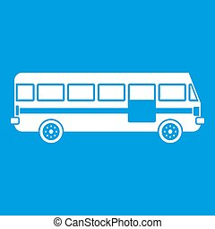 白, バス, アイコン