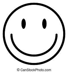 白, バックグラウンド。, emoticon, 特徴, ベクトル, 幸せな 表面, アイコン, 微笑, 隔離された