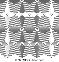 白, パターン, 上に, a, 灰色, バックグラウンド。