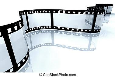 白, フィルムの ストリップ