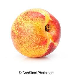 白, フルーツ, 自然, 隔離された, 桃