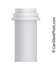 白, ブランク, 容器, ビタミン, プラスチック