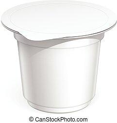 白, ブランク, 容器, プラスチック