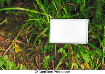 白, ブランク, 広告板