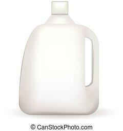 白, ベクトル, びん, イラスト, プラスチック