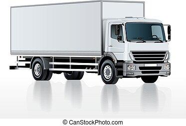 白, ベクトル, トラック, 隔離された, テンプレート