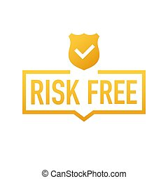 白, ベクトル, バックグラウンド。, illustration., 無料で, ラベル, 保証, 危険
