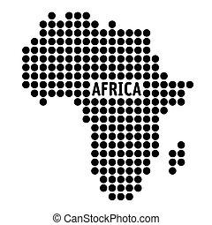 白, ベクトル, 地図, の, アフリカ