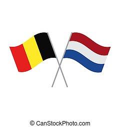 白, ベクトル, 旗, netherlands, 隔離された, ベルギー人
