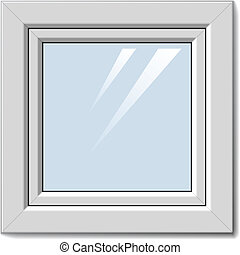 白, ベクトル, 窓, プラスチック