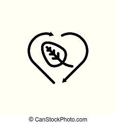 白, ベクトル, 隔離された, リサイクルしなさい, アウトライン, バックグラウンド。, illustration., icon.