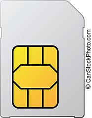 白, ベクトル, sim, カード, ブランク