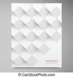 白, ベクトル, squares., 抽象的, backround