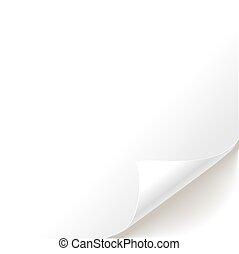 白, ページ, カール, ブランク