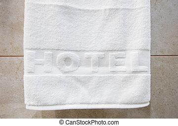 白, ホテル, タオル, きれいにしなさい