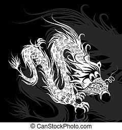 白, 中国のドラゴン