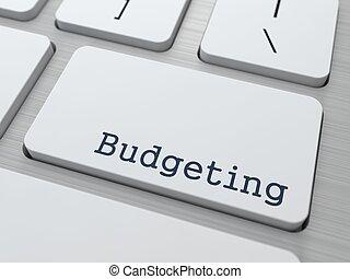 白, 予算を組む, button., キーボード