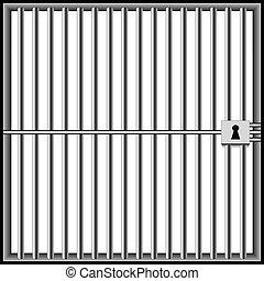白, 刑務所