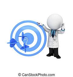 白, 医者, 3D, 人々