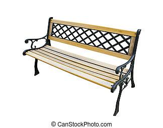 白, 古い, 庭ベンチ