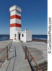 白, 古い, 灯台