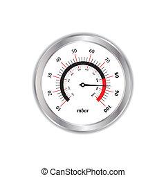 白, 圧力計, 特別, 背景