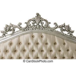 白, 家具, 隔離された, 贅沢