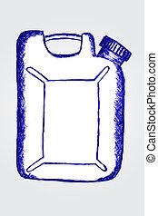 白, 容器, プラスチック