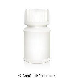 白, 容器, 医学, プラスチック