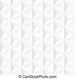 白, 幾何学的, 背景, 3d