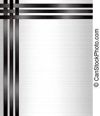 白, 形式的, 黒, テンプレート, 招待
