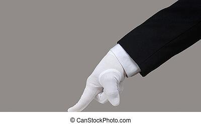 白, 手袋, テスト