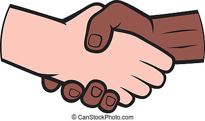 白, 振動, 黒い 人, 手