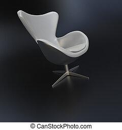白, 旋回装置 椅子
