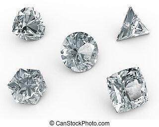 白, 様々, ダイヤモンド