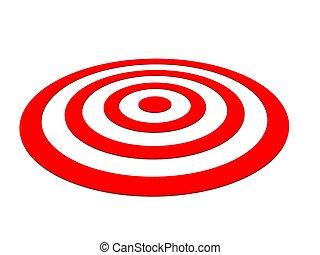 白, 横列, ターゲット, 矢, 赤
