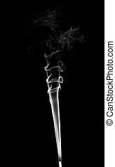 白, 煙, 黒い背景