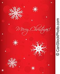 白, 特別, 雪片, 背景, クリスマス