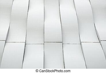 白, 現代, カーブ, 建築