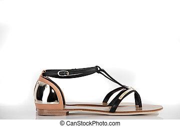 白, 現代, 靴, 背景