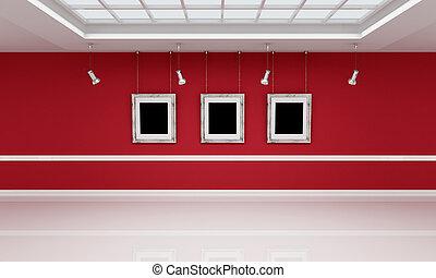 白, 画廊, 赤