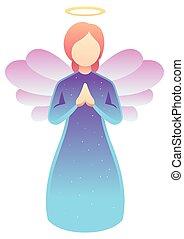 白, 祈ること, 天使