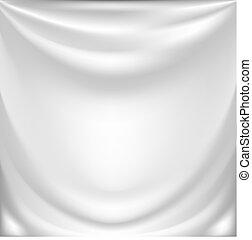 白, 絹, ひだのある布