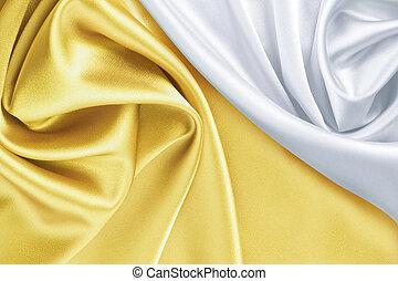 白, 絹, 金, 背景