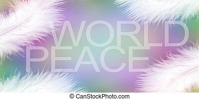 白, 羽, の, 平和