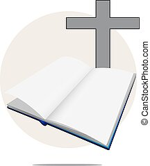 白, 聖書, 交差点, イラスト