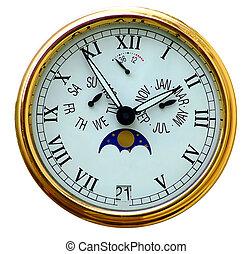 白, 腕時計