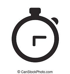白, 腕時計, 隔離された, 背景, アイコン