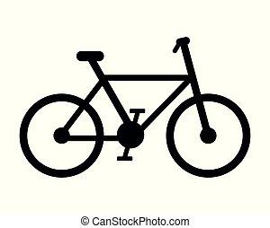 白, 自転車, 背景, pictogram
